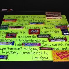 Fathers day candy card, great for our candy lover! by maricela