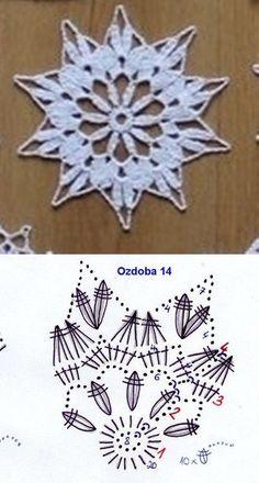 Best 12 Miniature crochet round doily cm dollhouse by MiniGio Crochet Snowflake Pattern, Crochet Stars, Crochet Snowflakes, Crochet Motifs, Thread Crochet, Crochet Doilies, Crochet Flowers, Crochet Stitches, Crochet Patterns