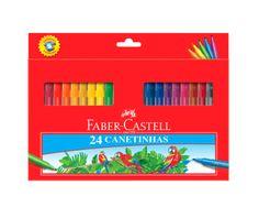Caneta Hidrográfica Faber Castell Regular C/ 24 Cores