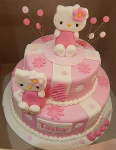 Hello Kitty cake for themed kids party