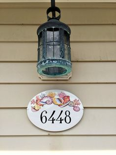 """""""Dear Roberta, We are doing some work at the beach house and have finally put up your address plaque! I am so pleased with it! I think you'll agree it looks perfect! Thanks again so very much, Sallie""""  Satisfied customers on DipintoAdArte!"""
