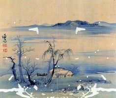 (Korea) 강진고사 by Gyeomjae Jeong Seon (1676-1759). ca 18th century CE. color on paper.