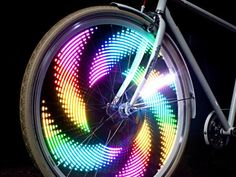 Strap MonkeyLectric to your bike wheels and let the light show begin. Designed and made in California.