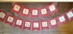 Grinch banner on Etsy