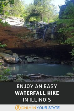 This easy Illinois hike is suitable for all skill levels and ends in a beautiful waterfall. | Beginner Friendly Hiking Trails | Family Friendly | Outdoors | Things To Do With Kids Shawnee National Forest, Best Bucket List, Waterfall Trail, Hidden Beach, Roadside Attractions, Beautiful Waterfalls, Natural Wonders, Hiking Trails, Road Trips