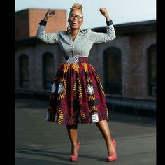 Ankara Skirt from @liliscreations_lili814 Rickey Allen  #AnkaraStyles