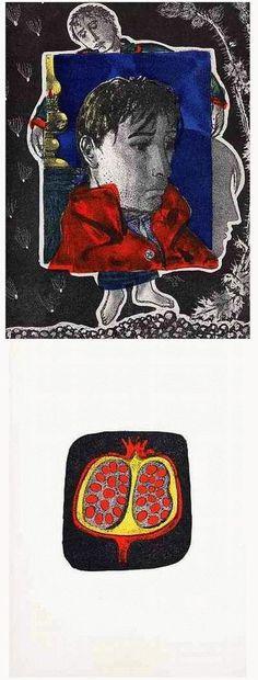 Hunziker,Max : 2 Handätzungen des SCHWEIZER Künstlers & SURREALISTEN - 1953