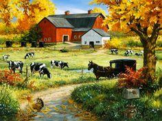 Amish Red Barn Mural - Linda Picken| Murals Your Way