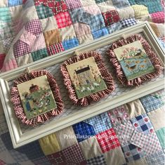 """Good morning.. it's time for a stitchy update!  So my """"spoiled"""" daughter dropped off her latest projects for me to finish up for her.. :..."""