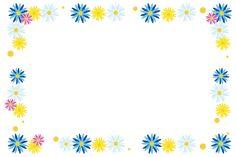 「カラフルな花フレーム(青)」 - 無料イラスト愛 Kids Background, Background Images, Printable Tags, Printables, Borders And Frames, Cute Backgrounds, Floral Design, Clip Art, Ideas