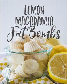 Lemon Macadamia Fat Bombs; Low-Carb & Keto