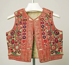 Hungarian Embroidery Vest Date: late century Culture: Hungarian Medium: leather, wool - Ethnic Fashion, Womens Fashion, Amarillis, Folk Clothing, Hungarian Embroidery, Textiles, Folk Costume, Traditional Dresses, Wearable Art