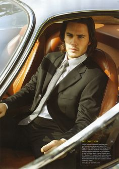 photo of Taylor Kitsch  - car