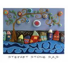Pebble Art by StefArt Stone S.A.S 40x30 cm. #pebbles #pebbleart #stoneart…
