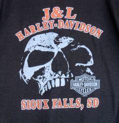 Harley-Davidson Motocycles Skull S T-Shirt NWOT   Unisex J & L  Sioux Falls SD