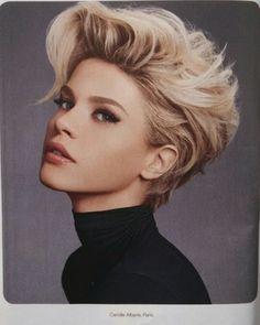 Stunning women's short hairstyle #womenshair #shorthair #fauxhawk #pixie #haircut #hairstyle #hairstlyes