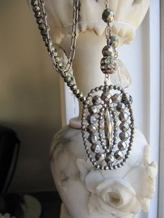 Iron and Steel: Glamorous Necklace with French by Alchymisticka