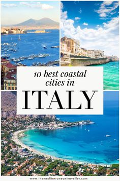 10 Best Coastal Cities in Italy. No need to choose between the thrill of a city and the allure of the sea in Italy. These 10 great coastal cities are worth a visit for their sweeping views, buzzing beach suburbs, and iconic harbour and canal architecture. #italy #italia #city #beach #europe #travel #mediterranean #port #tmtb Italy Destinations, Top Travel Destinations, Amazing Destinations, Places To Travel, Travel Pics, Italy Travel Tips, Europe Travel Guide, Travel Guides, Beautiful Places To Visit
