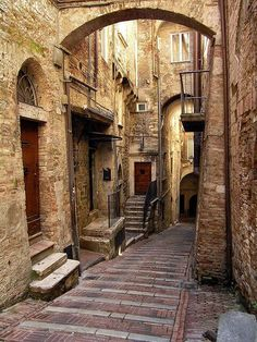 """Medieval Village, Perugia, Italy photo via jennifer Medieval architecture, """"mi piace"""" xD Places Around The World, Oh The Places You'll Go, Places To Travel, Places To Visit, Around The Worlds, Travel Destinations, Beautiful Buildings, Beautiful Places, Medieval Village"""