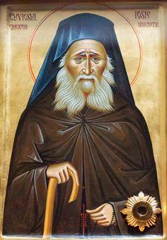 Elder Joseph the Hesychast Saint Joseph, Orthodox Christianity, Religious Icons, Orthodox Icons, Christian Art, Saints, Darth Vader, Cards, Movie Posters