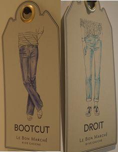 Du modèle bootcut au jean droit, en passant par le slim, toutes les préférences sont au Bon Marché #LeBonMarche #Denim #AtelierNotify #Jeans #women #Personnalisation #Femmes
