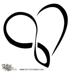 TATTOO TRIBES  - heart, infinity, love, eternity, union