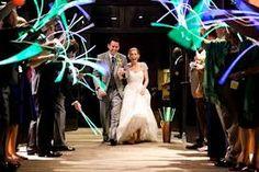 Glow Stick Send Off #wedding #sendoff #glowsticks