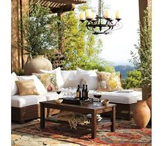 I love outdoor rooms, I have several outdoor spaces in my home I am always looking for ideas love this!!