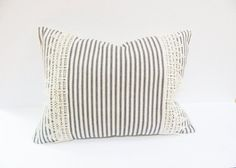 Ticking Stripe  Decorative Pillow  Cottage Chic  by HomeRefinery1