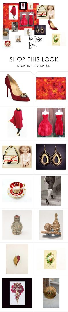 """""""Vintage Love!"""" by hbjewelry on Polyvore featuring Christian Louboutin, Kigu, vintage, MarilynMonroe, vintagestyle, RedVintage, vintagepurse and VintageEvening"""