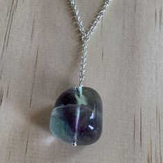 Sterling Silver Fluorite Gemstone Necklace