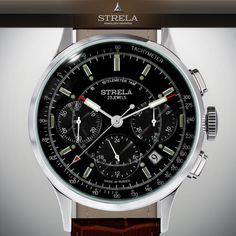 STRELA Poljot Chrono 31681 COSMOS LAB russian mechanical watch