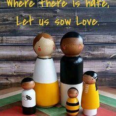myprettypeggy #myprettypeggy #pegdolls #naturaltoys #woodtoys #woodentoys #pegs #woodenpegdolls #prayerofstfrancis #love #family