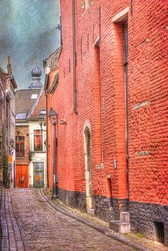 An Alley in Ghent, Oost-Vlaanderen_ Belgium Belgium Europe, Ghent Belgium, Places Around The World, Around The Worlds, Medieval Paintings, Beautiful Textures, Antwerp, Bruges, Beautiful Places