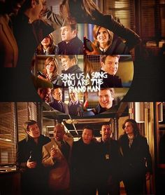 --Castle, Last Call, singing Billy Joel's Piano Man