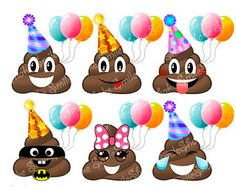 (Funny Emoji) listing 399044879 15 funny emoji sticker sheet printables Happy Birthday Emoji, Baby Boy Birthday, 8th Birthday, Birthday Parties, Party Emoji, Emoji Invitations, Emoji Clipart, Emoji Stickers, Funny Emoji