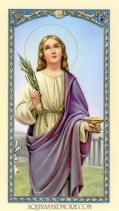 Lucy-Saint Lucy also known as Saint Lucia or Santa Lucia, was a young Christian martyr and the patron saint of the blind. Santa Lucia, Religious Images, Religious Icons, Religious Art, Catholic Saints, Patron Saints, Vintage Holy Cards, Religion Catolica, Prayer Cards