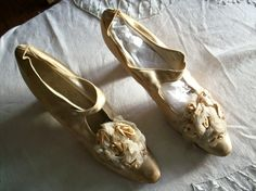 pre 1860s victorian ribbonwork shoes $250.00