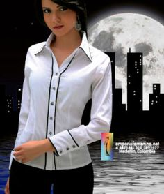 Button Up Shirt Womens, Fashion Web Design, Camisa Formal, Western Tops, Stylish Shirts, White Shirts, Office Outfits, Casual Chic, Blouses For Women
