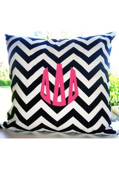Delta Delta Delta Custom Decorative Throw Pillow | Teen Girl Dorm Room Bedding