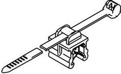 HellermannTyton Kabelbinder 200mm Schwarz Kabelbündelung seitlich zur Montage 156-00020 T50ROSEC20-M