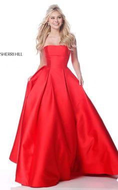 71cb70a5418 Sherri Hill 51917. NewYorkDress. Red Ball GownsBall ...