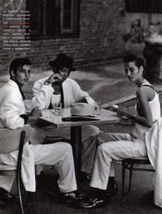 from Style Gangster Linda, Naomi, and Christy by Peter Lindbergh for Vogue Italia, 1991