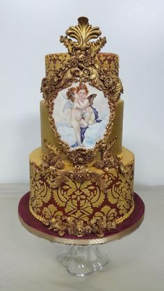 Baroque Love  by claudiamarcel - http://cakesdecor.com/cakes/250226-baroque-love