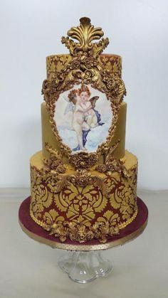 Baroque Love  by claudiamarcel - http://cakesdecor.com/cakes/250226-baroque-love