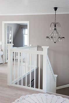 White and greige White Staircase, Sweet Home, House Stairs, Interior Decorating, Interior Design, Wall Colors, Colours, My Dream Home, Interior Inspiration