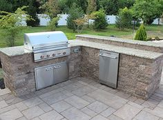 how to build a backyard kitchen with pavers - Yahoo Image Search Results