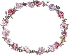 Vintage Roses Wreath Image. So pretty. Great with a monogram inside.