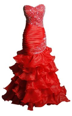 Sunvary Woman Trumpet Rhinestone Evening Dresses for Prom Formal Gowns Long Red Wedding Dresses, Unique Prom Dresses, Prom Party Dresses, Beautiful Dresses, Formal Dresses, Evening Dresses, Homecoming Dresses, Wedding Gowns, Prom Gowns