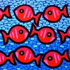 Nine Happy Fish Painting by John Nolan